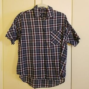 Madewell Courier Shirt in Dark Plaid, S